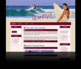Surfing WP Theme Template with Master Resale Rights