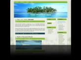 Palm Tree Island WP Theme Template with Master Resale Rights