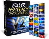 Killer Abstract Backgrounds V2 Graphic with Personal Use Rights