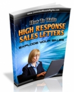 How To Write High Response Sales Letters eBook with Master Resale Rights