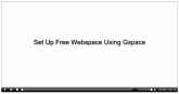Set Up Free Webspace Using Gspace Video with Private Label Rights