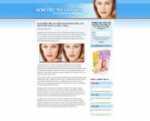 Acne Landing Page Template Template with Personal Use Rights