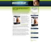 Migraine Landing Page Template Template with Personal Use Rights
