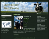 Dairy Farming WP Theme Template with Master Resale Rights