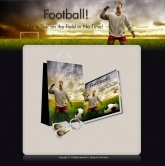 Football - Minisite & Content Template with Resale Rights