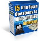 15 Of The Biggest Questions In Online Marketing eBook with Master Resell Rights