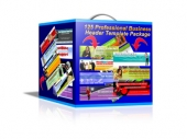 125 Professional Business Header Template Package Template with Master Resale Rights