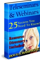 Teleseminars & Webinars eBook with private label rights