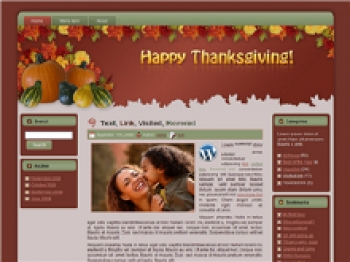 Thanksgiving - Fall WP Theme