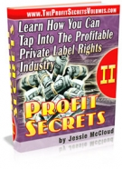Profit Secrets II eBook with Resell Rights