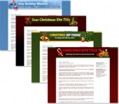 Christmas Themed Minisites and Wordpress Themes Template with Personal Use Rights