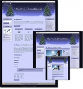 Christmas Wordpress, Blogger and HTML Templates Template with Master Resale Rights