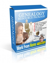 Genealogy Resource Package Software with Master Resale Rights