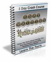 5 Day Crash Course Copywriting Business eBook with Private Label Rights