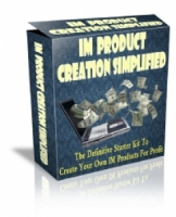 IM Product Creation Simplified Software with Master Resale Rights