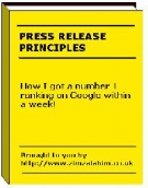 Press Release Principles eBook with Master Resell Rights