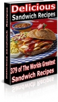 Delicious Sandwiches Recipes eBook with Master Resale Rights