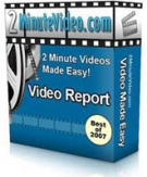 2 Minute Videos Made Easy : Video Report eBook with Personal Use Rights