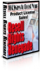 Resell Rights Renegade eBook with Master Resell Rights