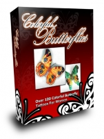 Colorful Butterflies eBook with Master Resale Rights