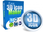 Easy 3D Icon Maker Software with Personal Use Rights