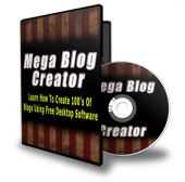 Mega Blog Creator Video with Personal Use Rights