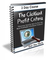 The Clickbank Profit Criteria eBook with Private Label Rights