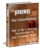 The GiveAway Code For Contributors eBook with Resell Rights