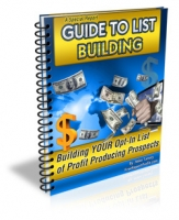 A Special Report Guide To List Building eBook with Master Resale Rights
