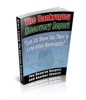 The Bankruptcy Recovery Report eBook with private label rights