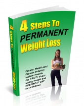 4 Steps To Permanent Weight Loss eBook with Giveaway Rights