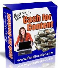 Cash For Content