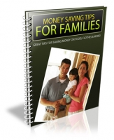 Money Saving Tips For Families eBook with Personal Use Rights