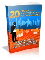 20 Productivity Boosting Methods For The Positive Mind eBook with Master Resale Rights