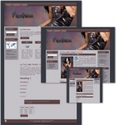 Fashion Themed Wordpress, Blogger and HTML Templates Template with Master Resale Rights