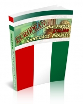 European Mini E-Book Italian Language Phrases eBook with Giveaway Rights