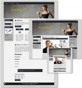 Keeping Fit Themed Wordpress, Blogger and HTML Templates 2