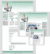 Keeping Fit Themed Wordpress, Blogger and HTML Templates 3 Template with Master Resale Rights