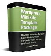 Wordpress Minisite Template Package Graphic with Private Label Rights
