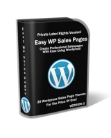 Easy Wordpress Sales Pages Graphic with Private Label Rights