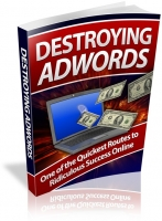 Destroying Adwords eBook with private label rights