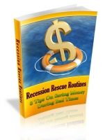 Recession Rescue Routines eBook with private label rights