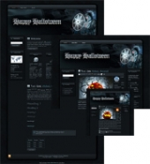 Halloween Sorceress WP Theme Template with Master Resale Rights
