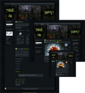 Halloween Witches House WP Theme Template with Master Resale Rights