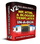 WP, HTML And Blogger Templates In-A-Box V2 Graphic with Master Resale Rights