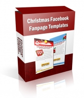 Christmas Facebook Fanpage Templates Graphic with Private Label Rights