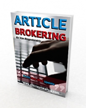 Article Brokering eBook with Master Resale Rights