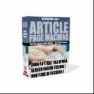 Article Page Machine Software with Resell Rights
