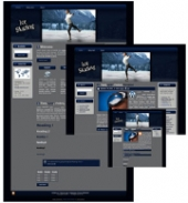 Ice Skating - WP Theme Template with private label rights