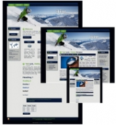 Skiing - WP Theme Template with private label rights